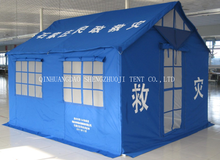 3.7x3.2M relief tent for 5-6 persons