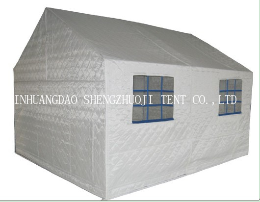 3.7X3.2m cotton relief tent for 5-6 persons